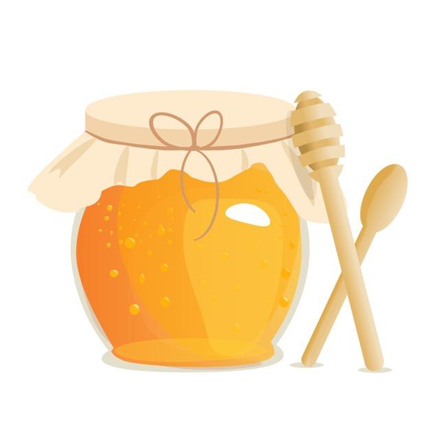 Honey jar vector illustrations.